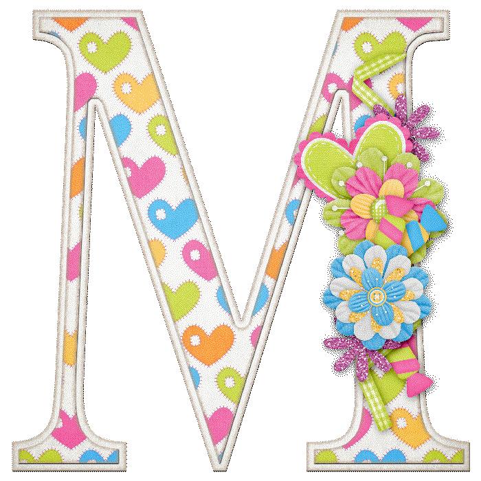 alfabeto letras mayúsculas adornadas con flores