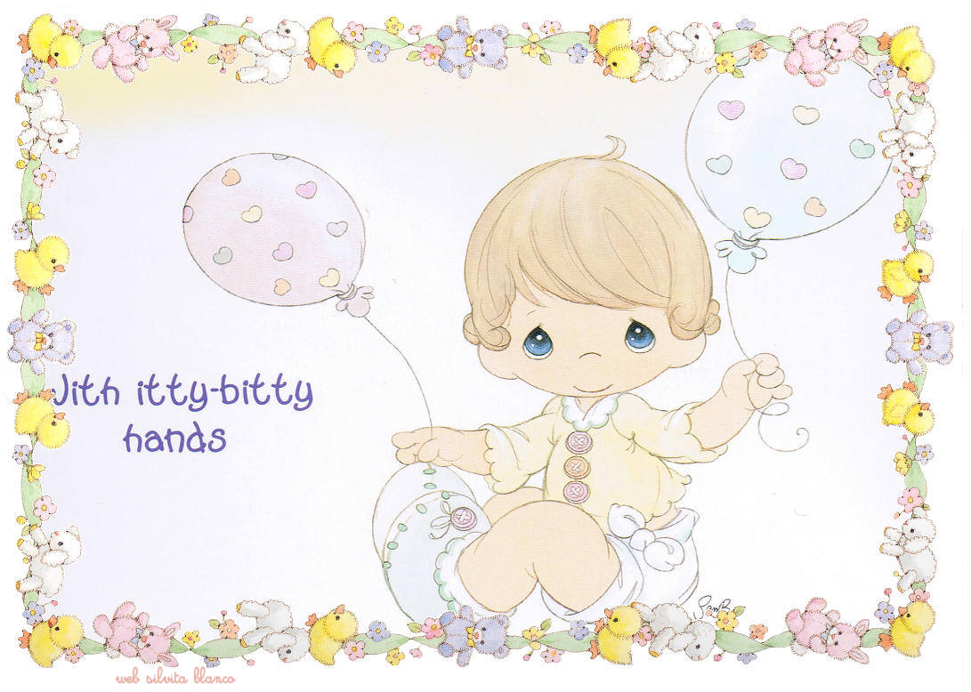 Precious Moments | serie Los Bebés son una Bendición | Cute Paper for Babys