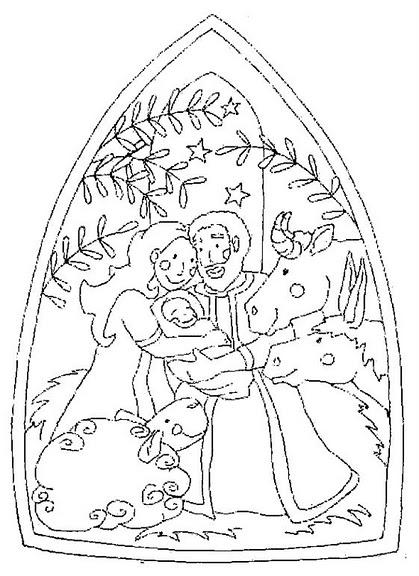 Kleurplaat Kerst Jezus Colorear Pesebre Nacimient Bel 233 N