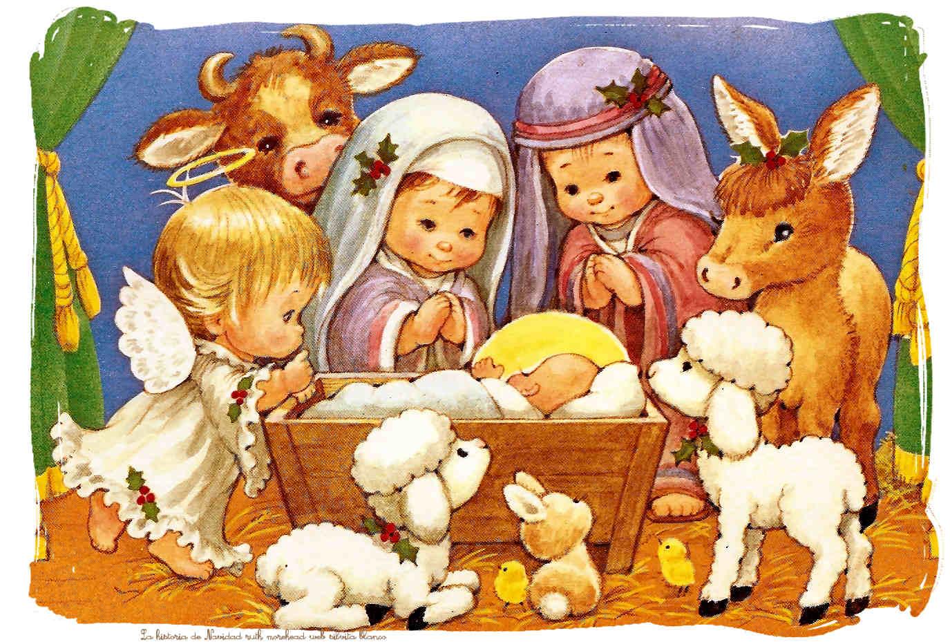 Pesebres - Dibujos de nacimientos de navidad ...