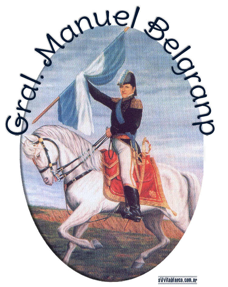 Belgrano y Bandera Argentina