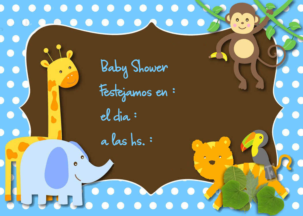 Decoracion Baby Shower Varon ~ Invitaciones Baby Shower Nena Var?n IDEAS para manualidades