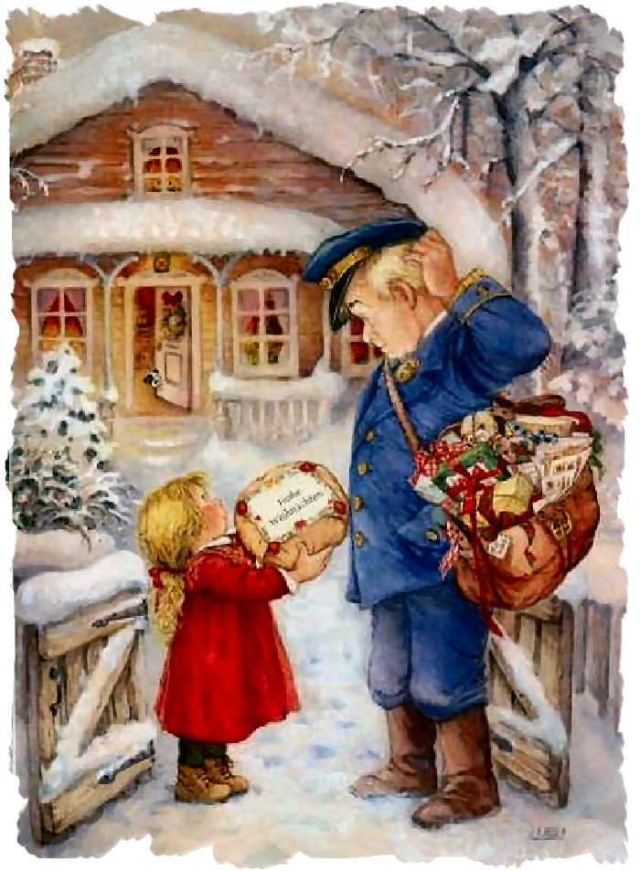 Lisi martin im genes navide as tarjetas postales tama o for Dibujos christmas navidad
