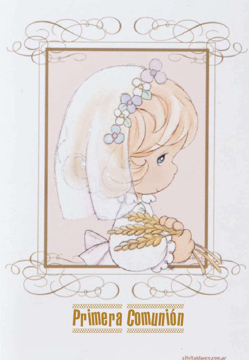 Primera comuni n tarjeta precious moments - Adornos para primera comunion ...