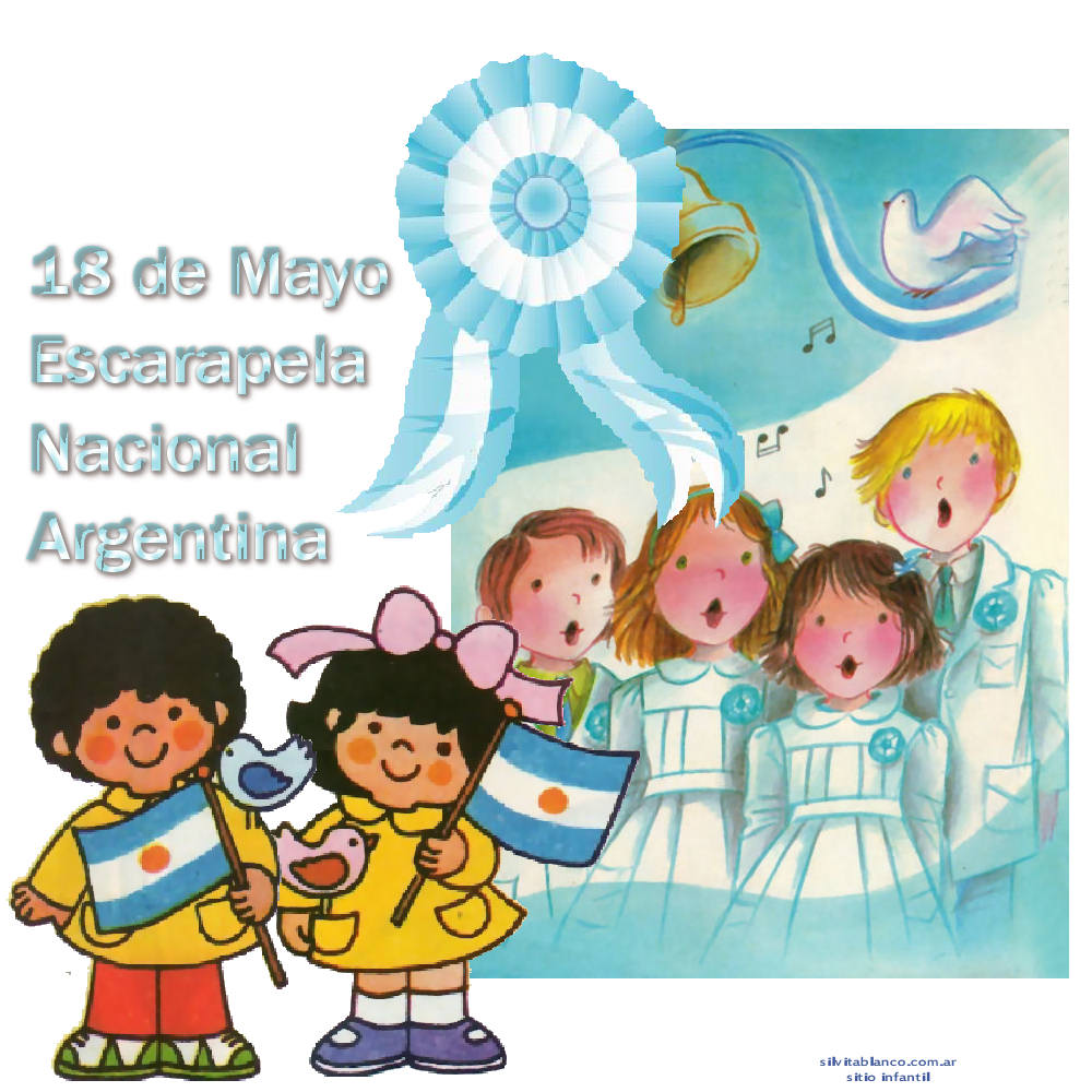 Escarapela argentina for Decoracion 25 de mayo nivel inicial