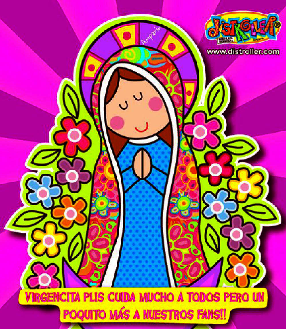 Virgencita Plis Distroller Arte Amparo Serrano