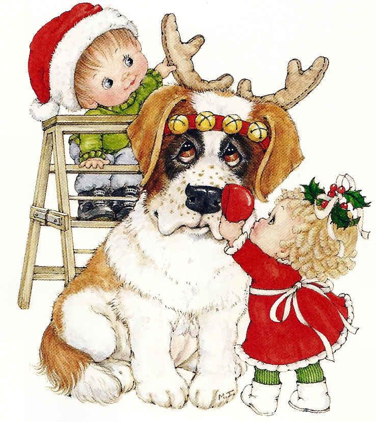 Navidad ruth morehead for Dibujos de renos en navidad