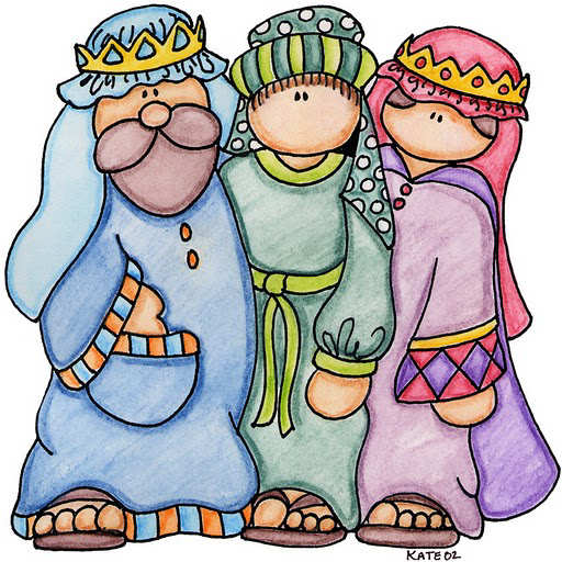 Reyes magos - Dibujos de navidad en color ...