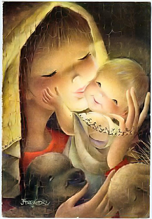 Juan ferr ndiz im genes infantiles vintage - Dibujos postales navidad ninos ...