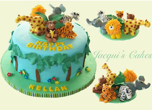 Jungle Birthday Cake Images