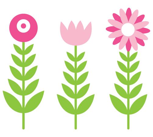 Sticker wall art - Peques Y Pecas Flores Ilustraciones En Png Para