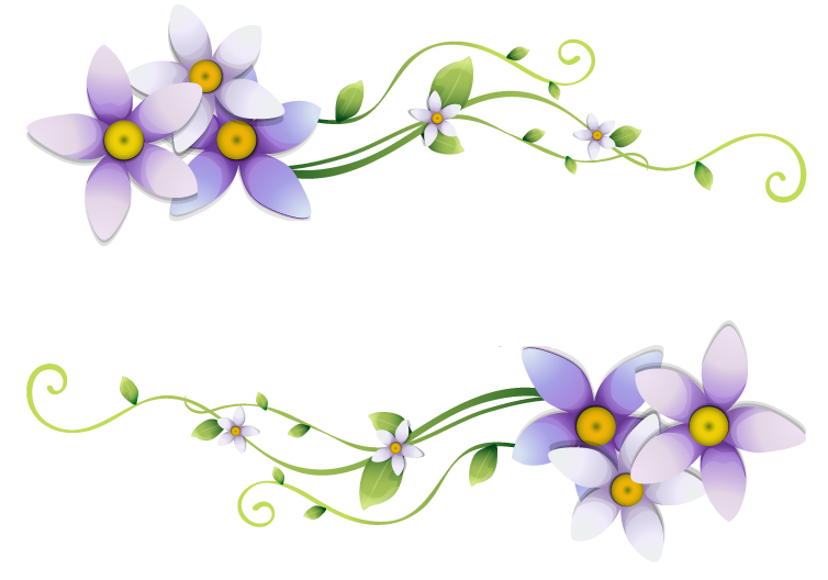 Flores Ilustraciones En PNG Para Artesanía Y Diseños