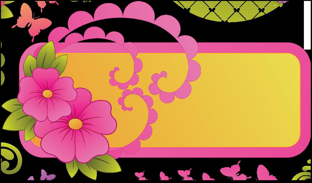 Flores Ilustraciones Png Para Artesania: Flores Rótulos Etiquetas Y Elementos Ilustraciones En PNG