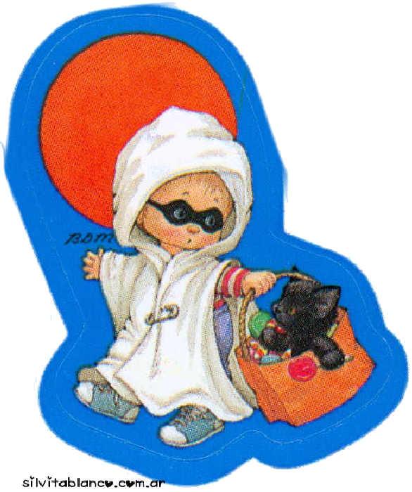 halloween niño disfrazado de fantasma