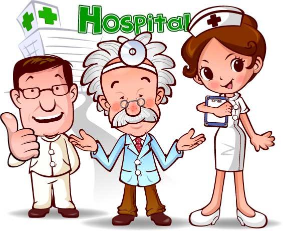 Medicos y enfermeras en caricatura - Imagui