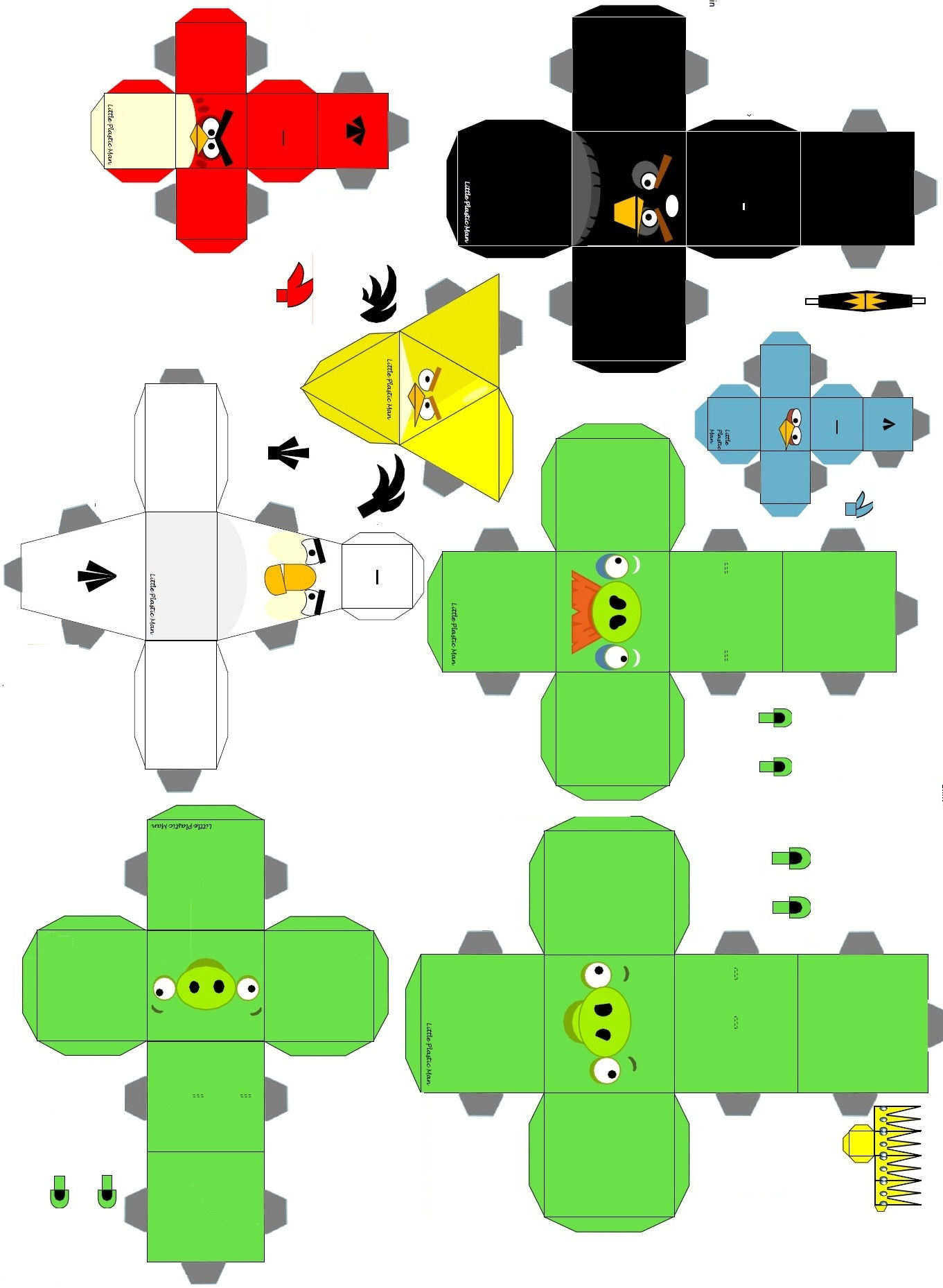 Imagenes de animales para recortar y armar imagui for Sillas para armar y recortar