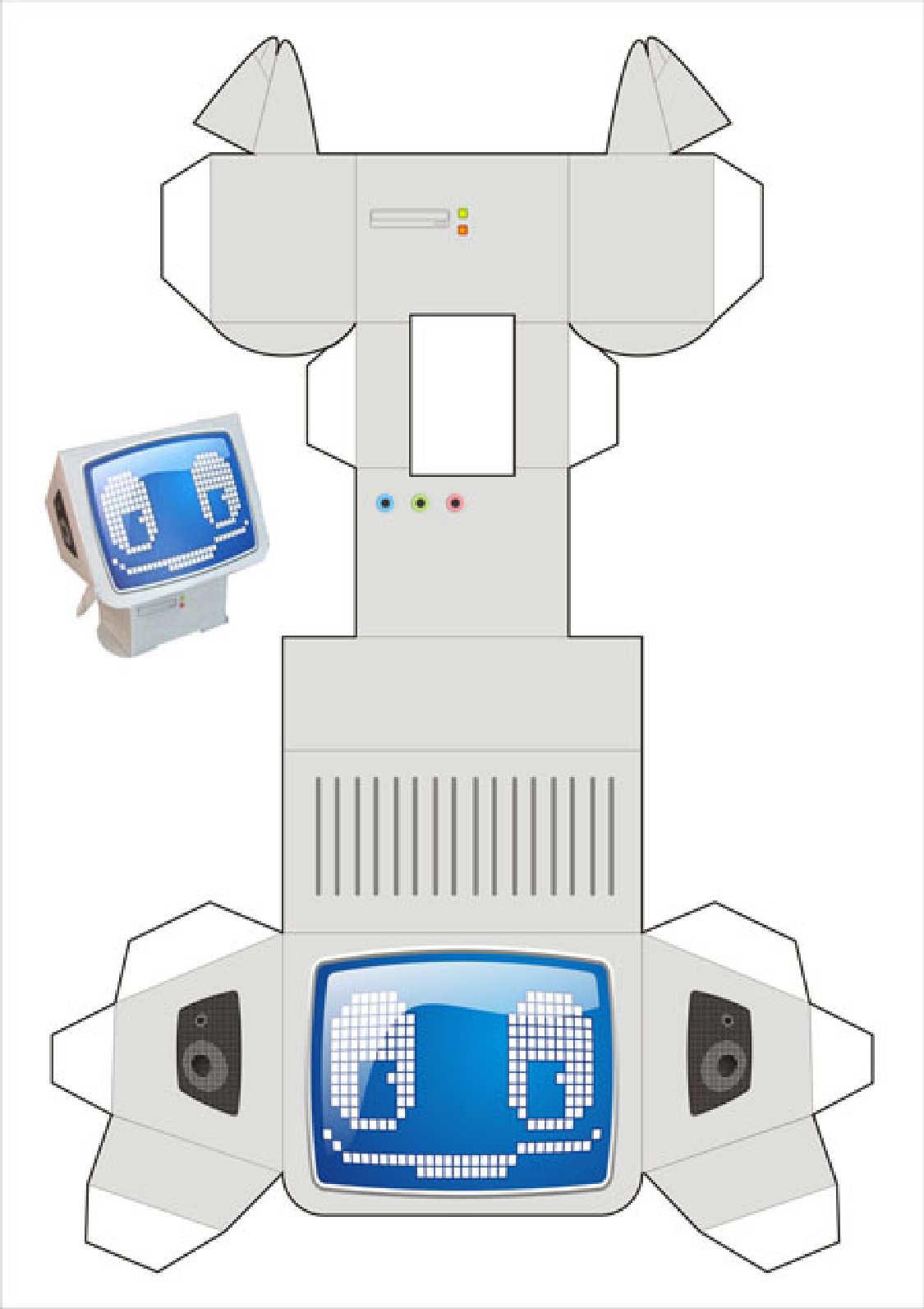 Computadora recortar y armar ilustraciones para for Sillas para armar y recortar