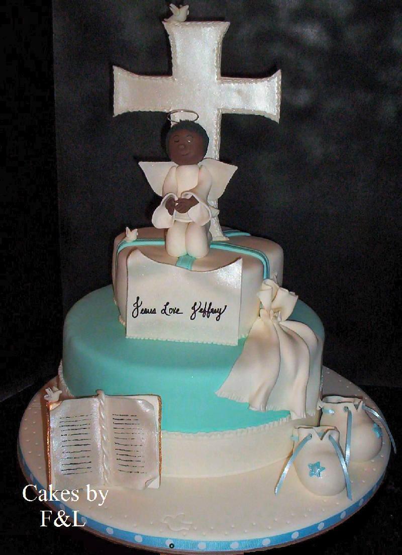 Decoraci n tortas y souvenirs para bautismo for Decoracion de tortas sencillas