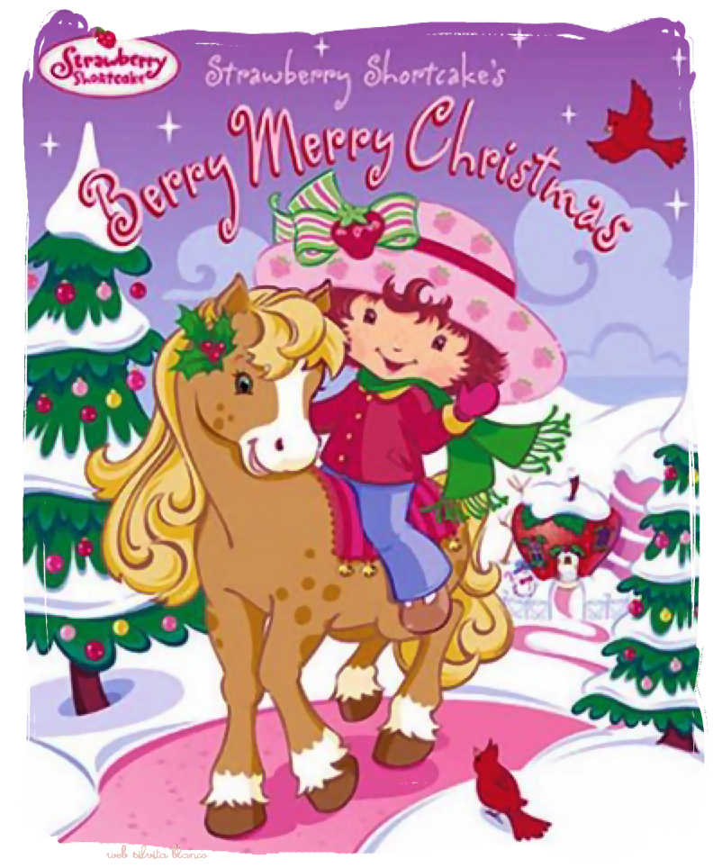 Navidad Frutillitas Strawberry Shortcake cute ilustraciones