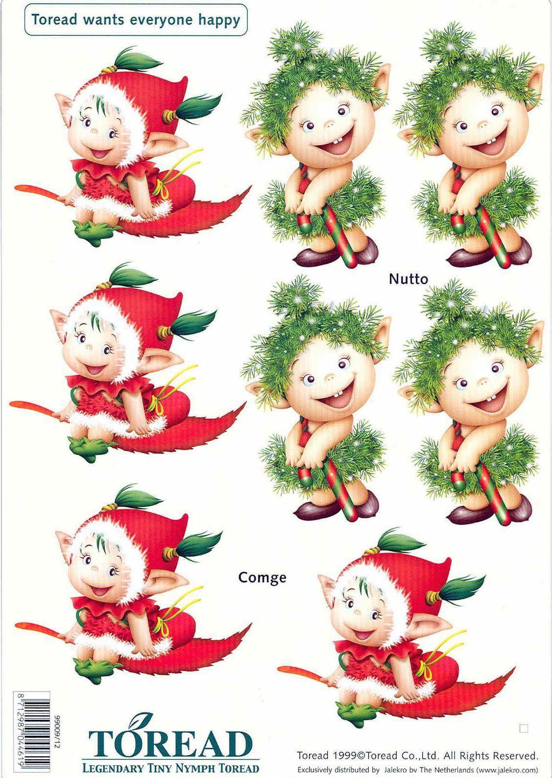 toread navidad decoupage ilustraciones de duendes infantiles