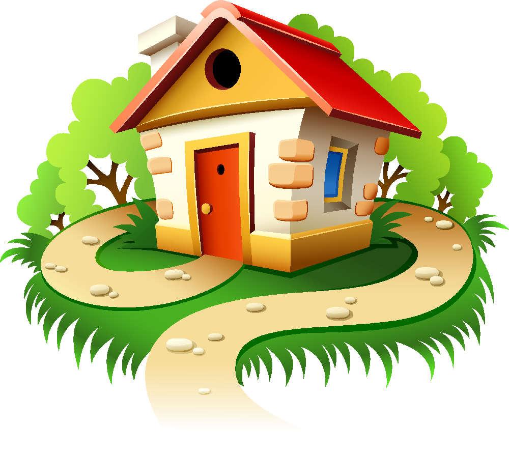 Mi casa ilustraciones partes de mi casa depencias hogar for Imagenes de casas