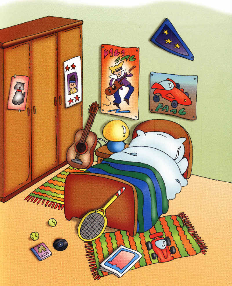 Dormitorio de ni o for Dormitorio animado