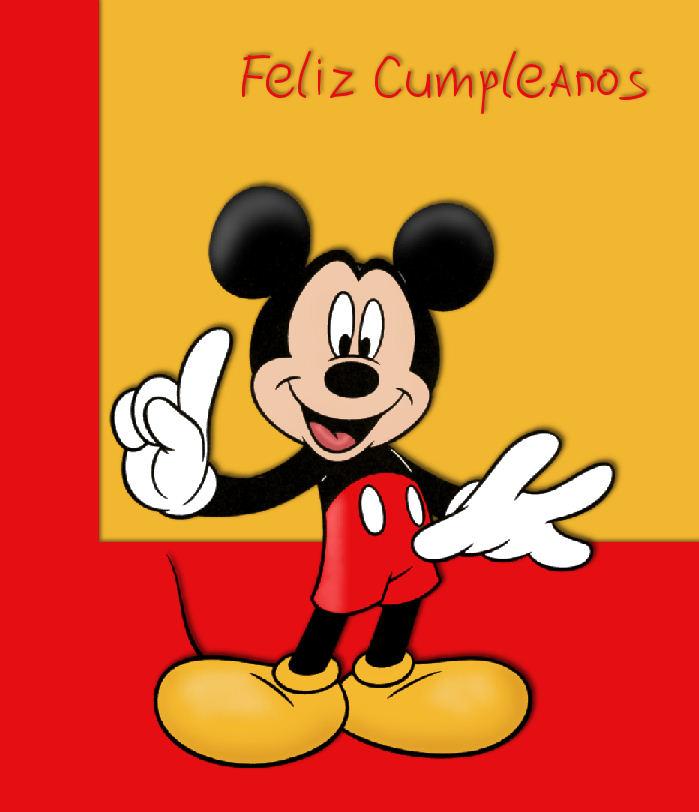 Mickey Mouse Disney Tarjetas IMÁGENES Cumpleaños | TARJETAS CARDS ...