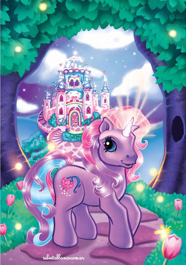 Dibujo para Colorear Mi pequeño Pony - Dibujos para