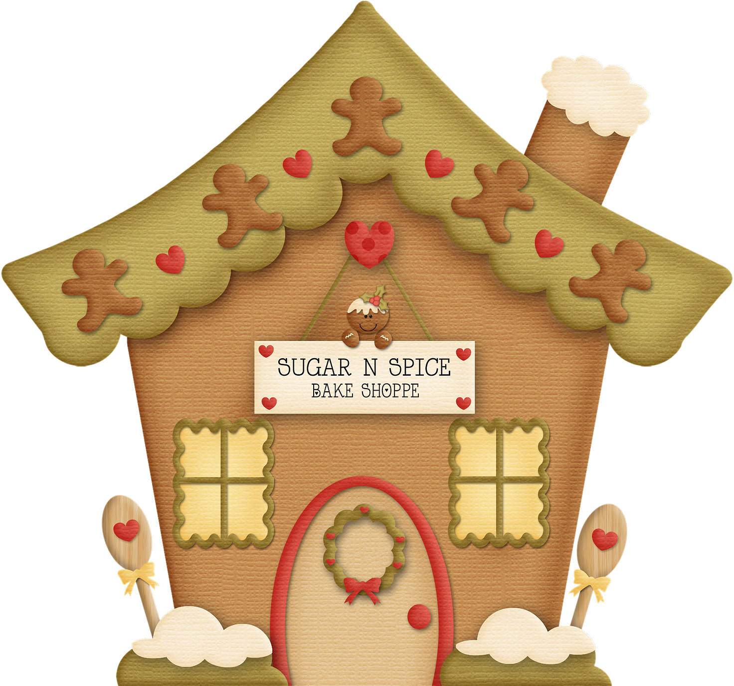 christmas clip art gingerbread house - photo #8