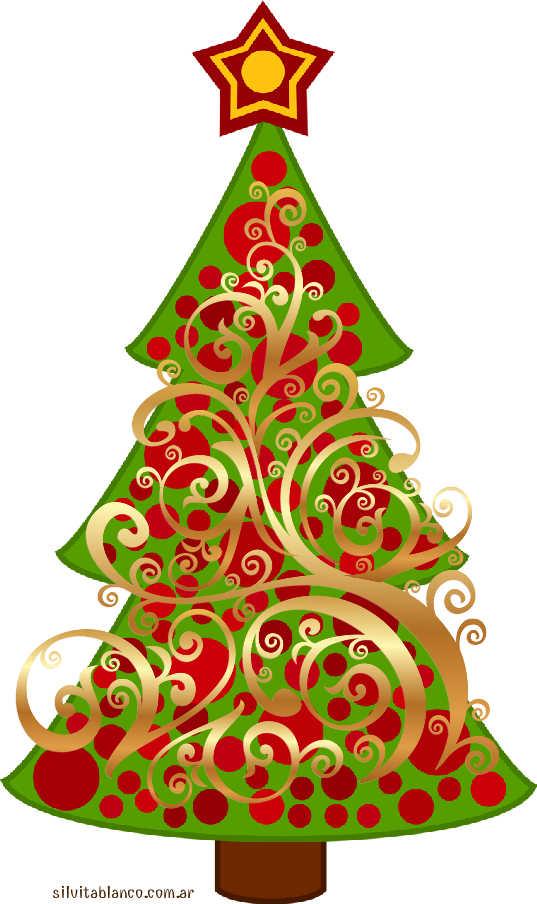 árbol de navidad adornado con guirnaldas y arañas doradas