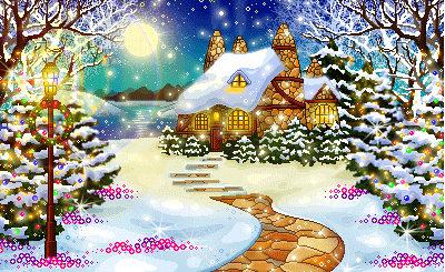 Flores paisajes nevados paisaje amarillo fondos de - Paisaje nevado navidad ...