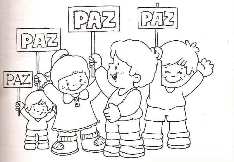 Imagenes DIA De La Paz Ninos Colorear