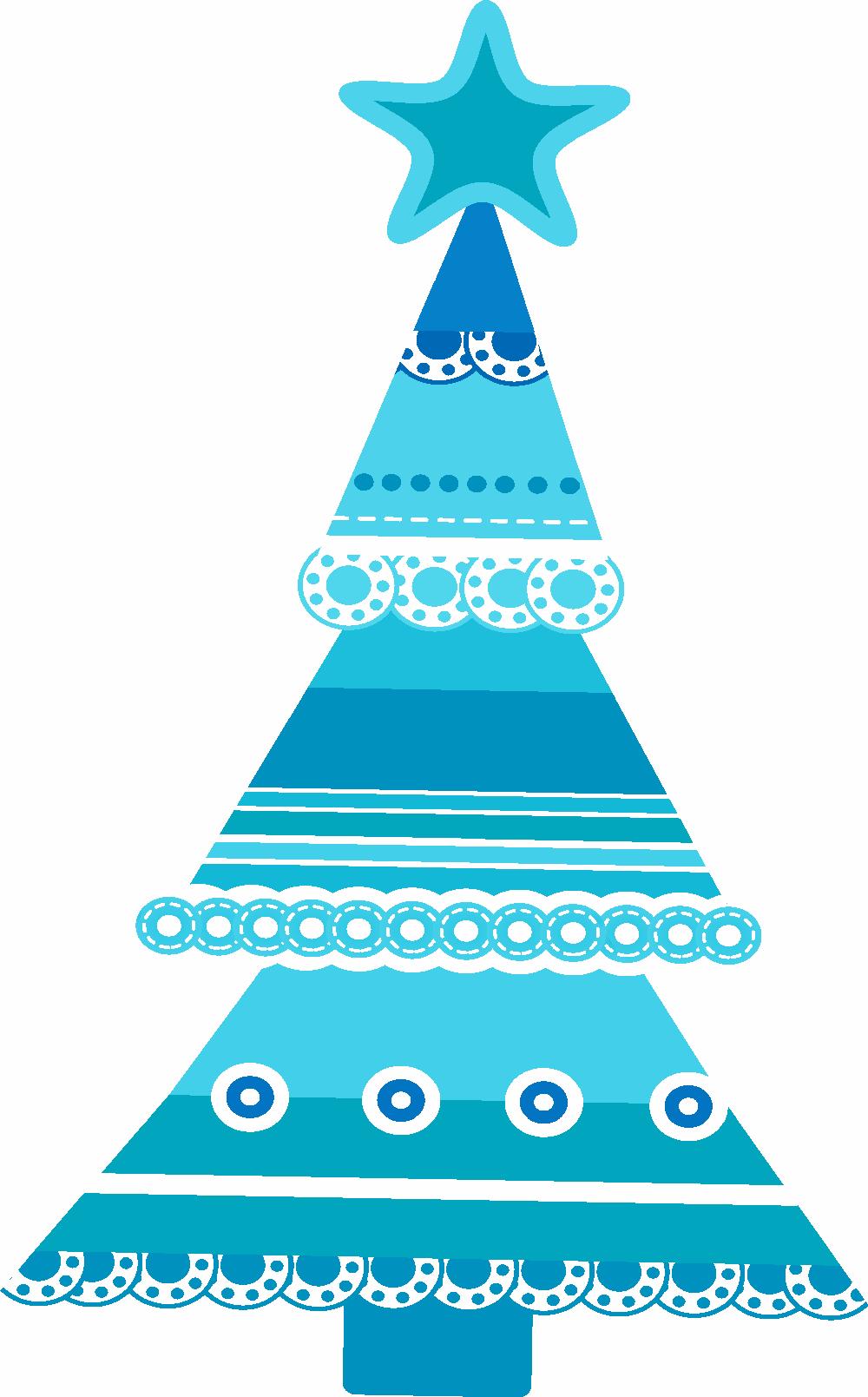 Rboles de navidad en color azul - Arboles decorados de navidad ...