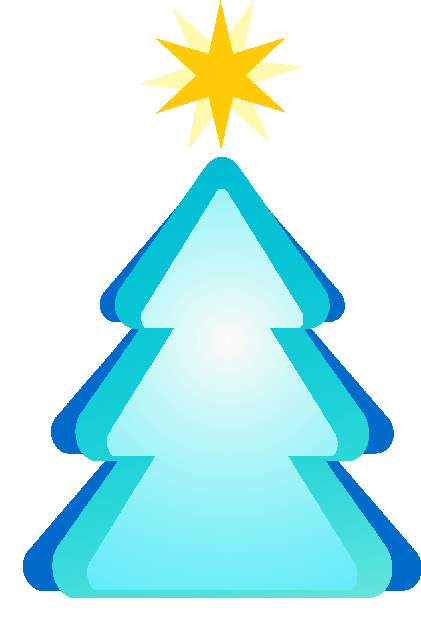 Rboles de navidad en color azul for Arbol de navidad mural