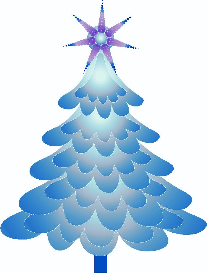 Rboles de navidad en color azul - Arboles de navidad imagenes ...