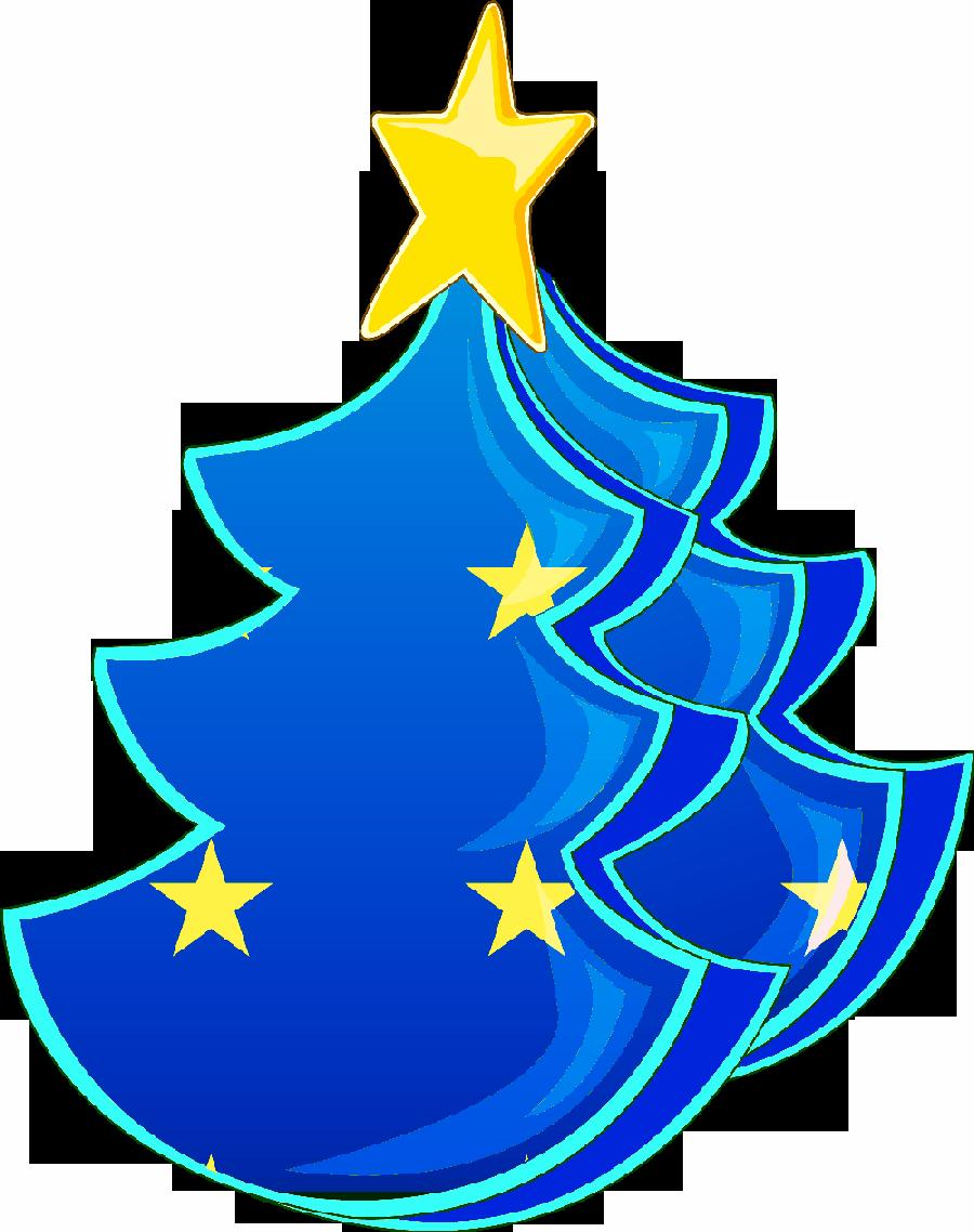 Rboles de navidad en color azul - Arbol de navidad blanco ...