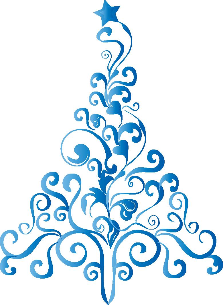 Rboles de navidad en color azul - Arbol de navidad para colorear ...