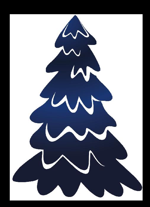 Rboles de navidad en color azul - Belenes de navidad manualidades ...