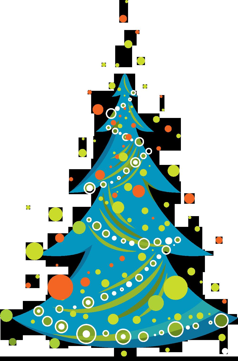 Rboles de navidad en color azul - Arbol de navidad diseno ...