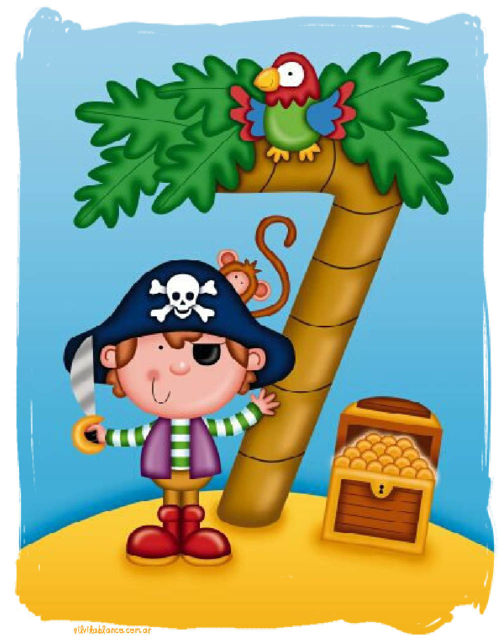 Piratas para invitaciones tarjetas personajes divertidos - Imagenes de barcos infantiles ...
