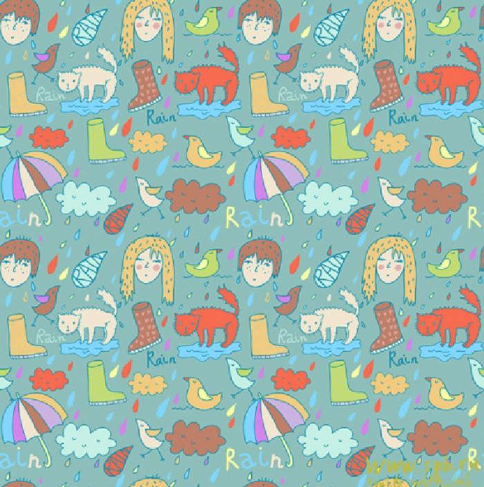 Papeles estampados dibujos infantiles para dise o fondos - Papeles pared infantiles ...