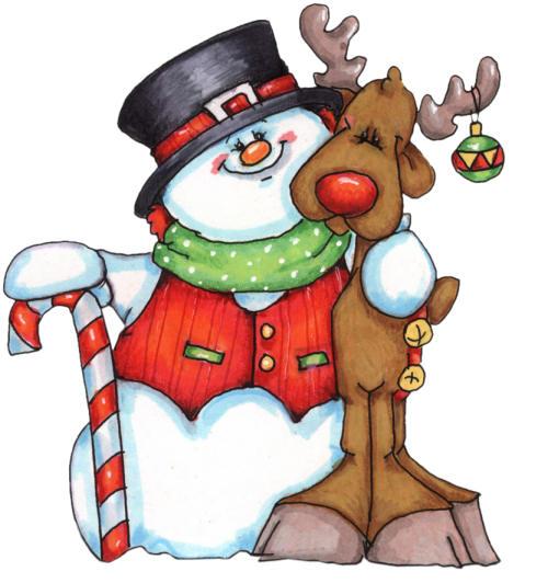 Renos - Laminas de navidad para colorear ...