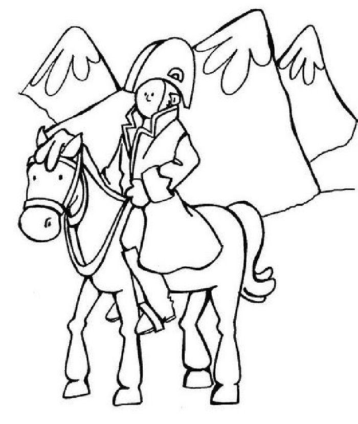 Colorear José de San Martín Tarjeta para la Escuela
