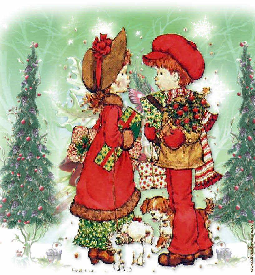 Sarah kay navidad for Dibujos christmas navidad