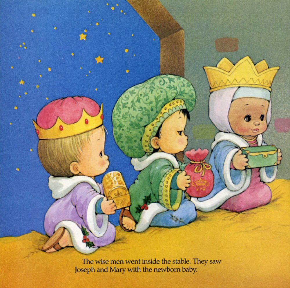 tres reyes de oriente llegaron al pesebre a adorar el nacimiento del nio