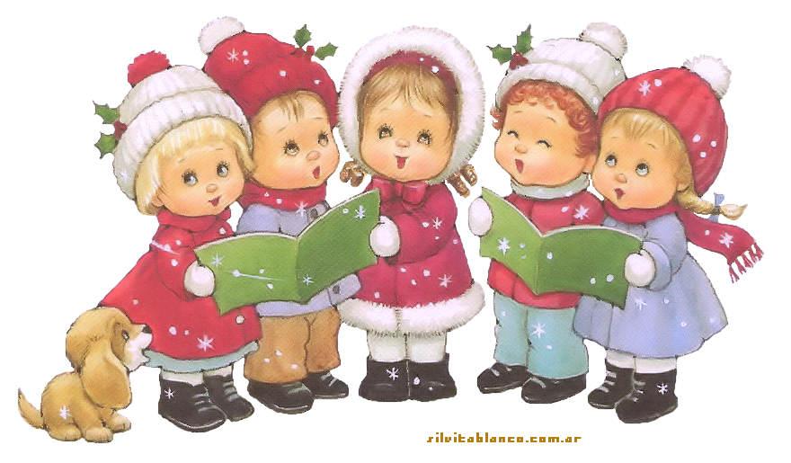niños del coro cantando En el Portal de Belén