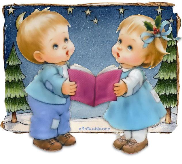 ni�os cantando villancicos navide�os