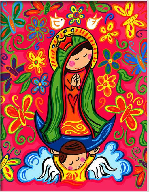 Virgencita Plis Distroller Arte Infantil