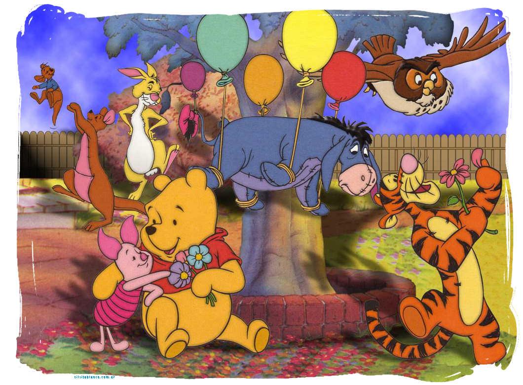 Láminas para Tarjetas de Felicitación Cumpleaños Winnie Pooh y sus ...